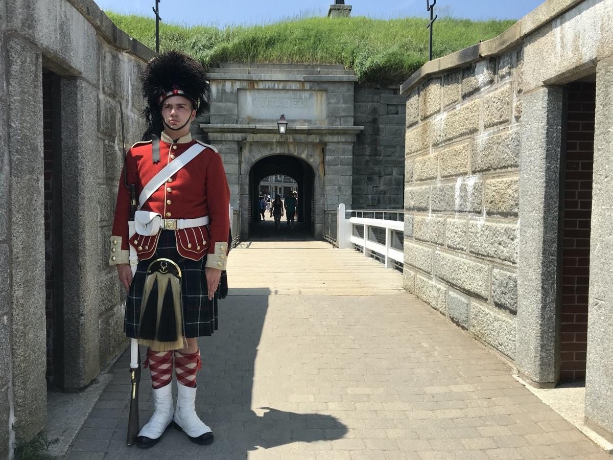 a 78th highlander guard at the halifax citadel fortress
