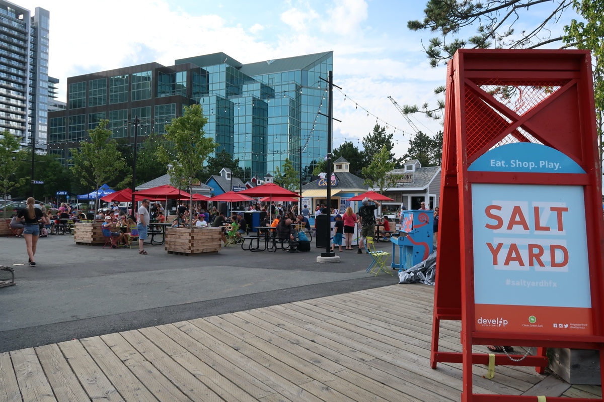 the salt yard food kiosks on the Halifax waterfront the best instagram spots in Halifax