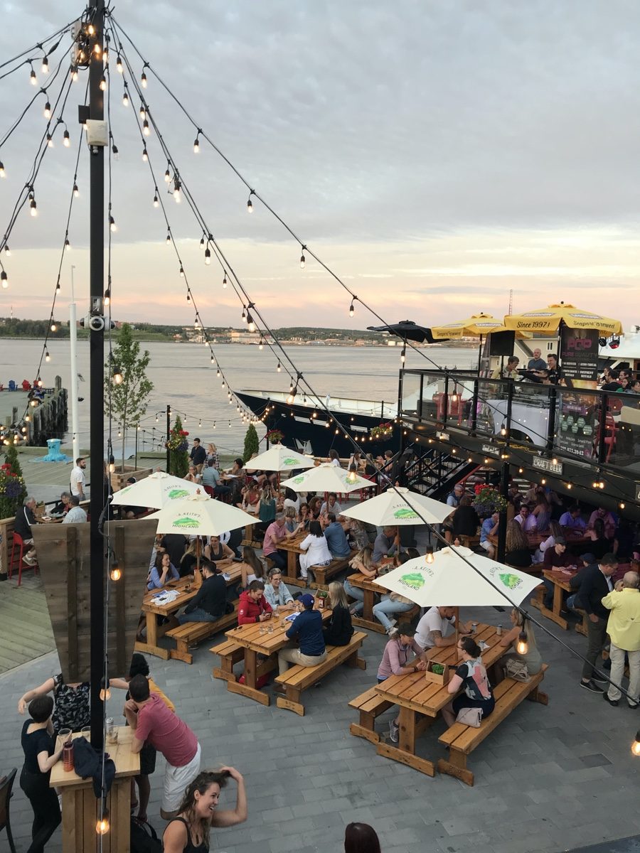 the stubborn goat beer garden on the Halifax waterfront Best Instagram Spots in Halifax