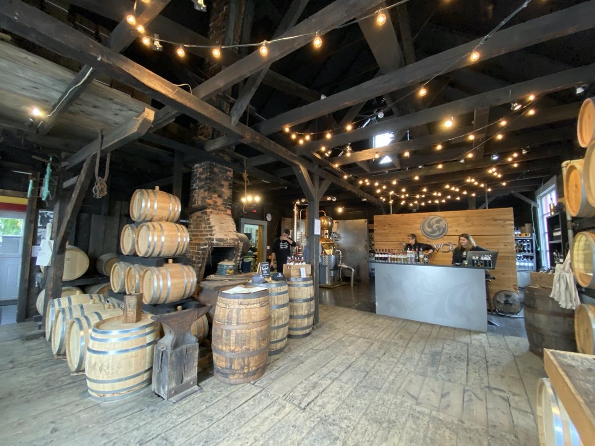 Ironworks distillery in Lunenburg Nova Scotia road trip