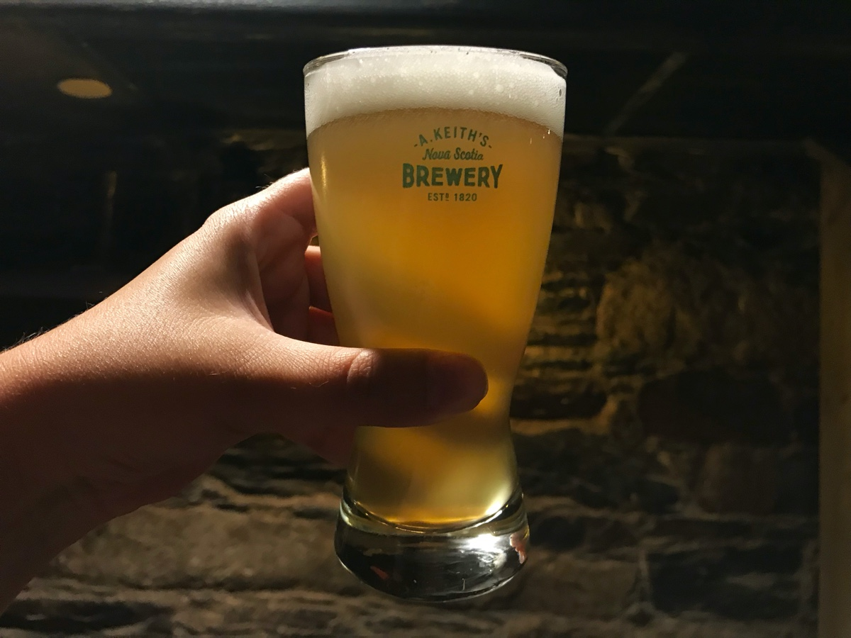 an alexander keiths ipa at the alexander keiths brewery tour