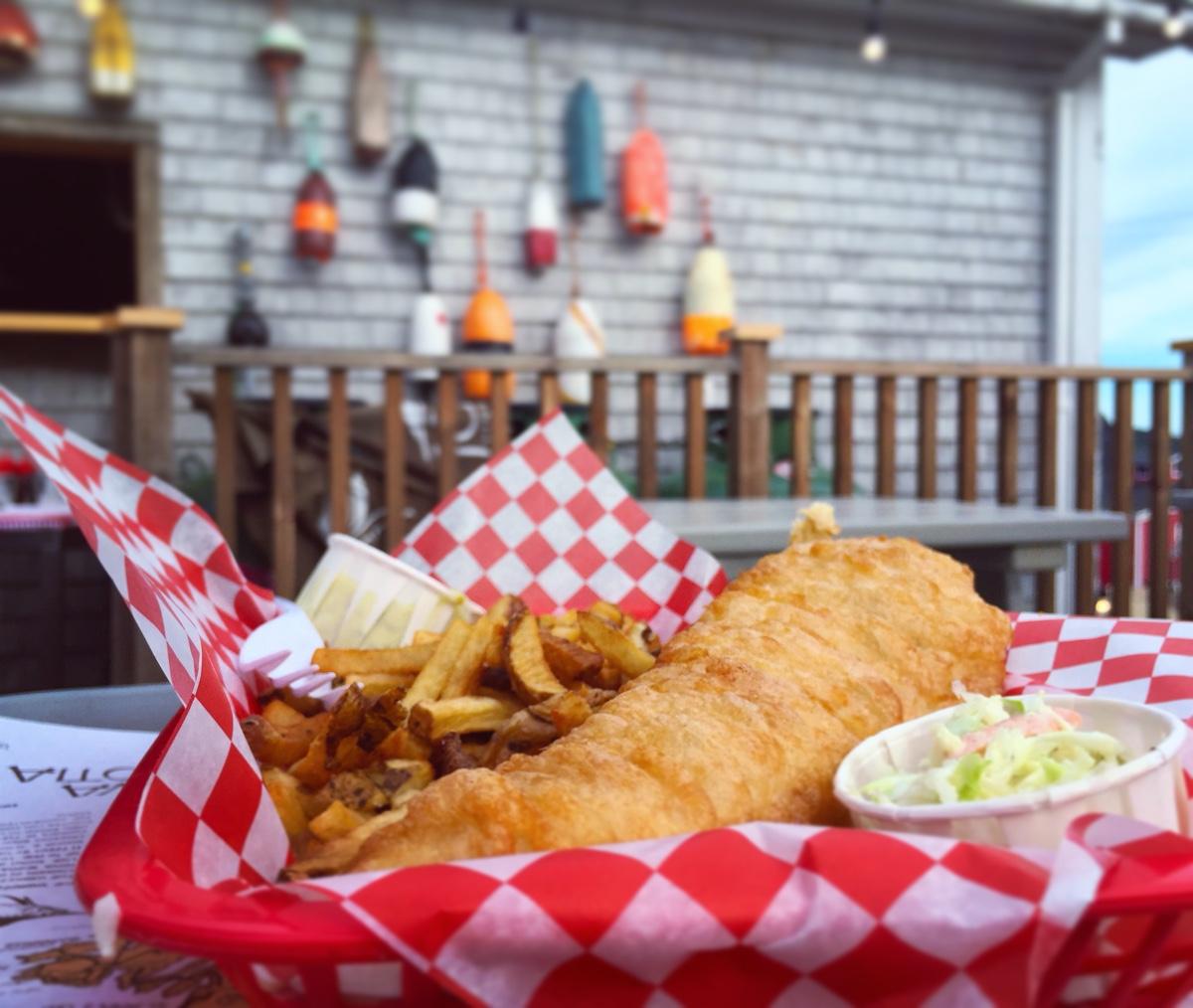 fish and chips at the south shore fish shack