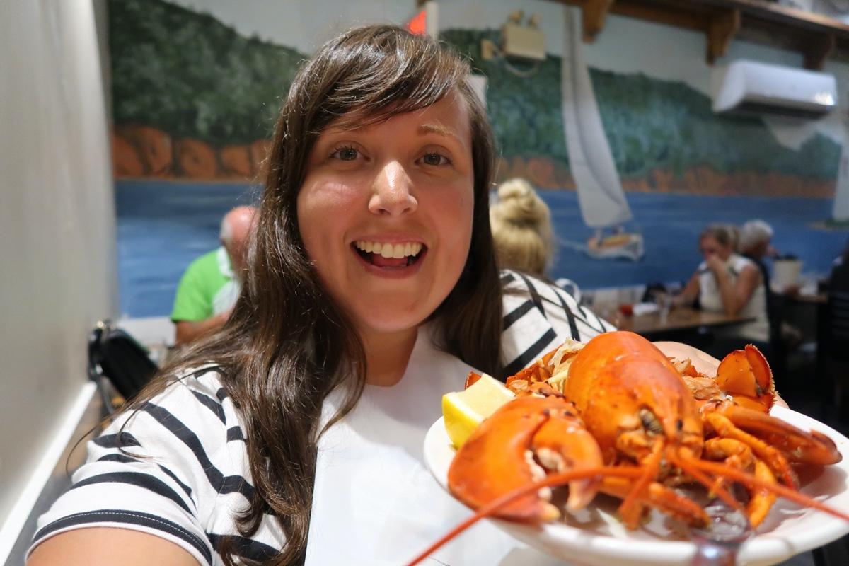 lobster dinner at baddeck lobster suppers in cape breton nova scotia
