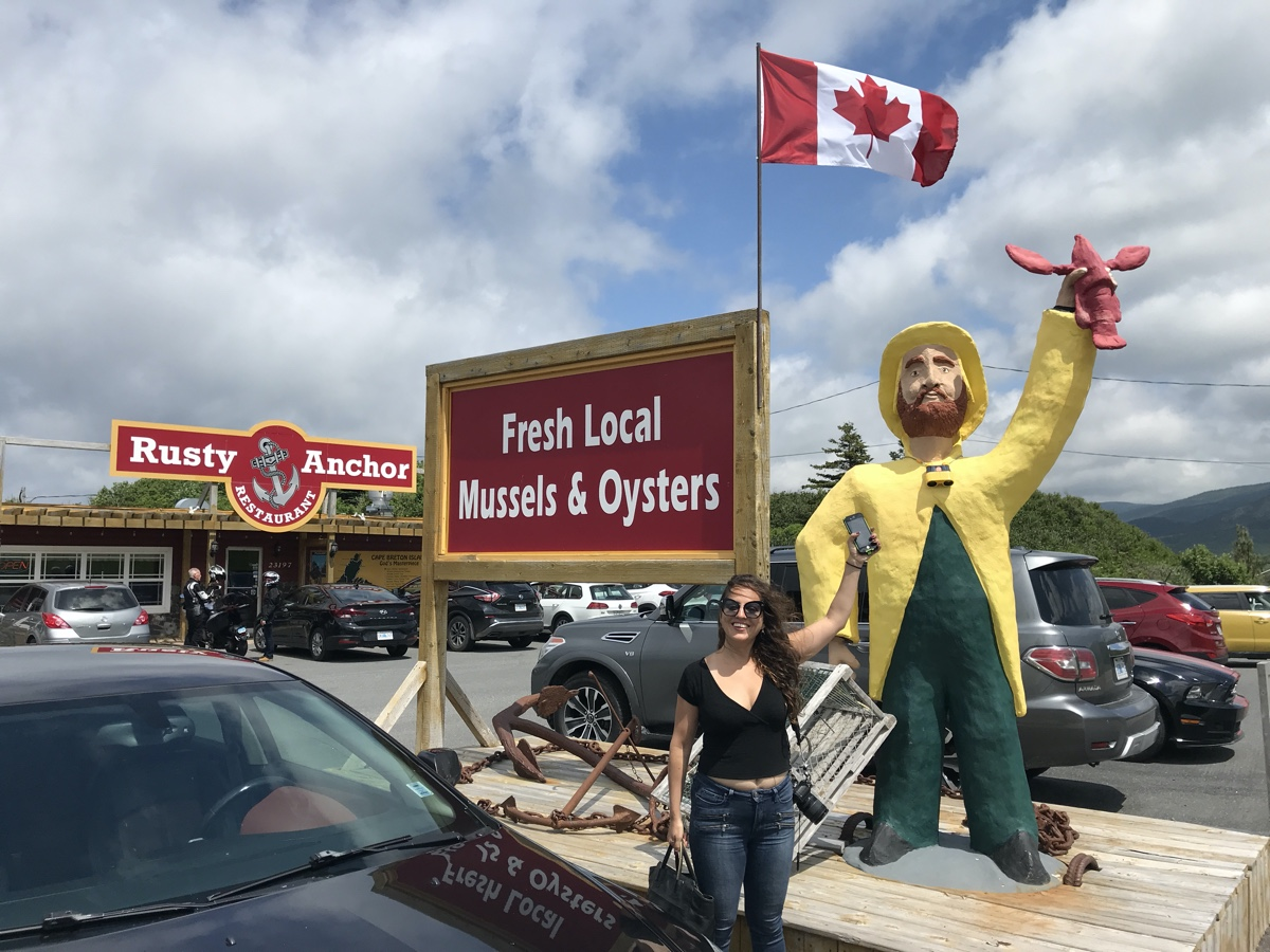the rusty anchor restaurant in pleasant bay cape breton on the cabot trail nova scotia road trip