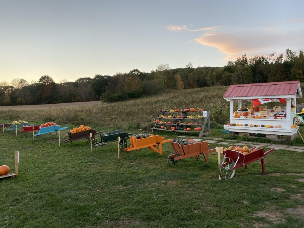 a road side farm stand in canning nova scotia annapolis valley