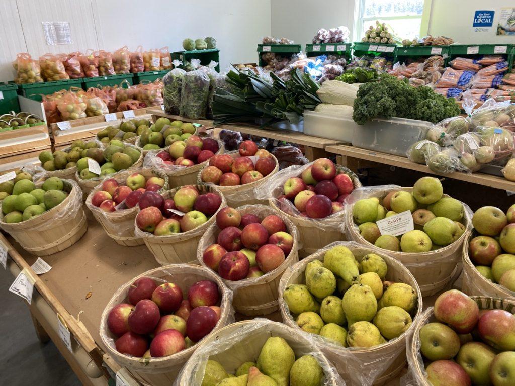 delicious fresh produce for sale at the noggins farm market in the annapolis valley nova scotia