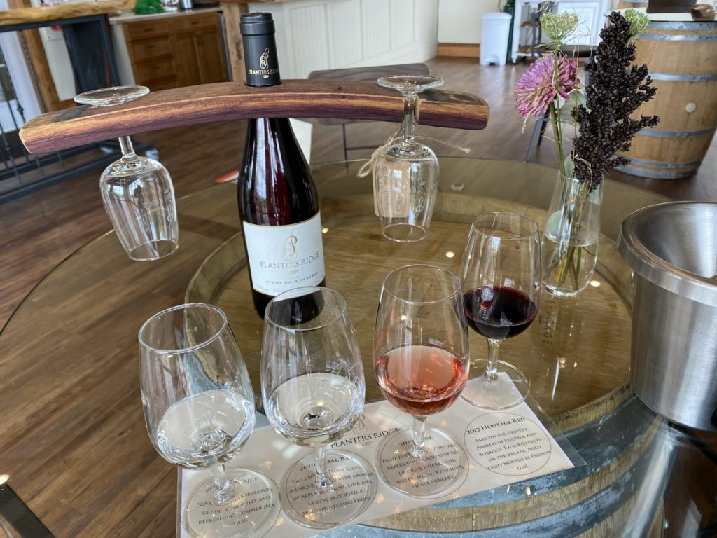 planters ridge wine tasting room in canning nova scotia annapolis valley