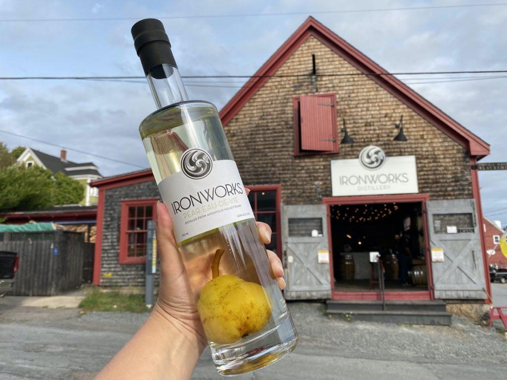 Ironworks distilling lunenburg pear eau de vie nova scotia