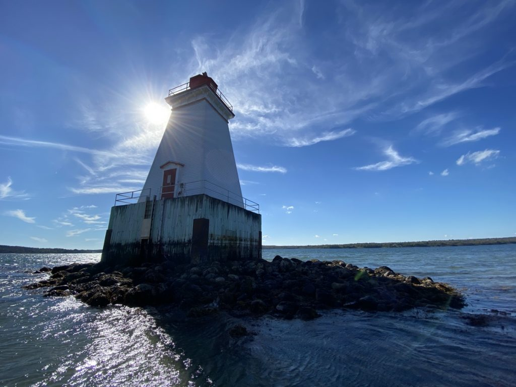 sandy point lighthouse shelburne county nova scotia