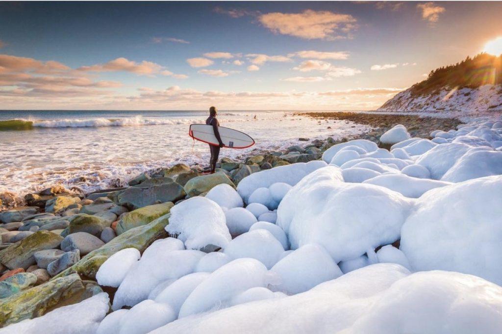 Adam Cornick on Instagram acorn art photography surfing in winter in nova scotia
