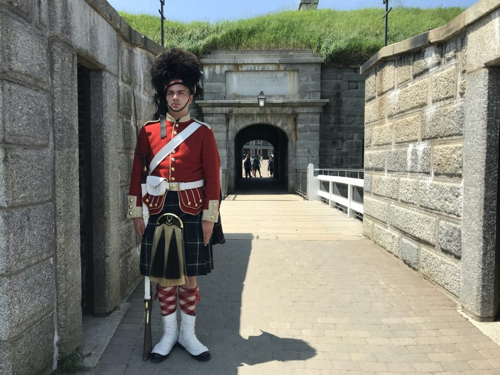 a soldier with the 78th Highlanders Regiment of Foot at the halifax citadel