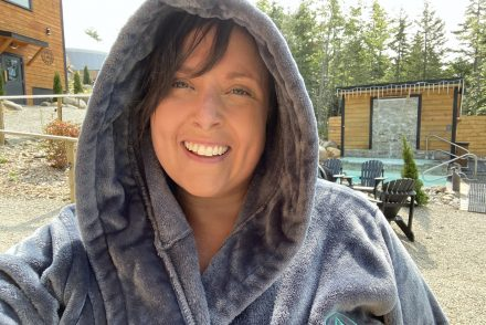 cailin oneil at the sensea nordic spa in chester nova scotia