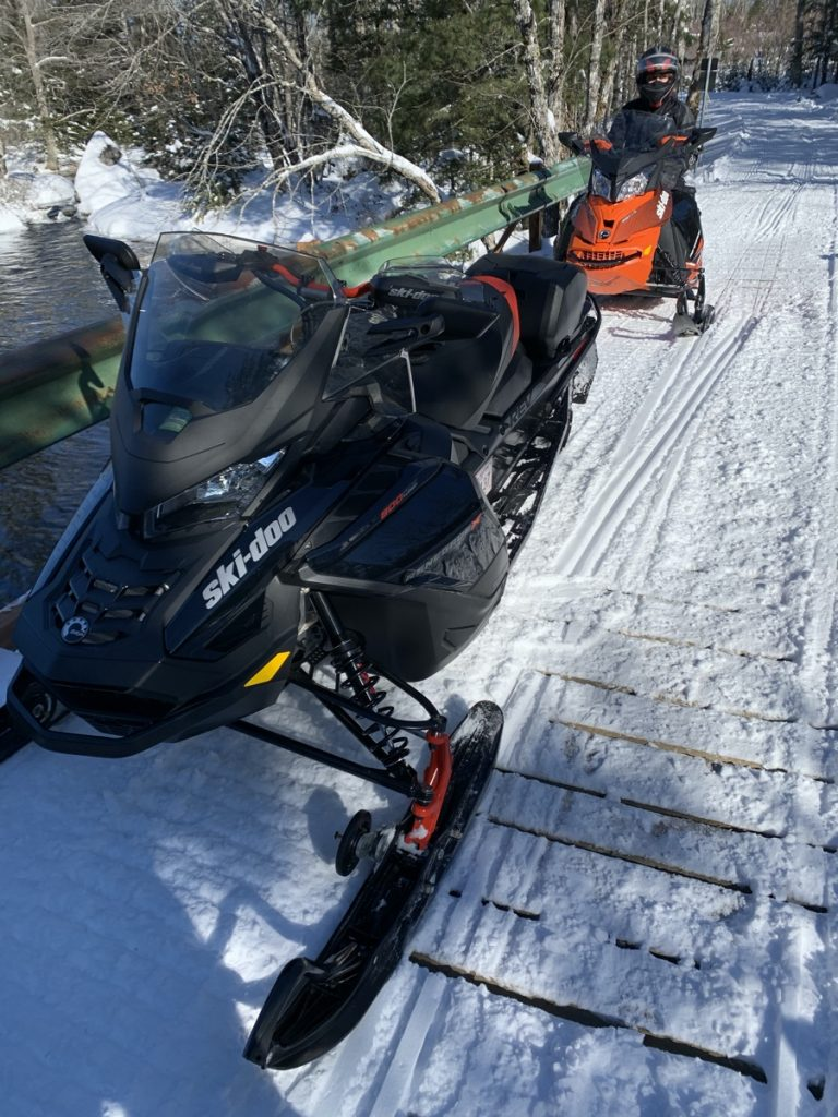 skidoo and snowmobiling in nova scotia in winter