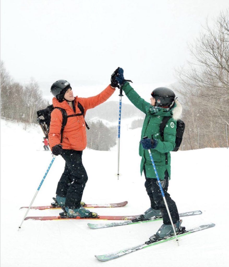 skiing in nova scotia in winter image credit davey and sky