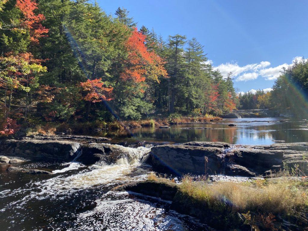fall in kejimkujik national park camping in nova scotia