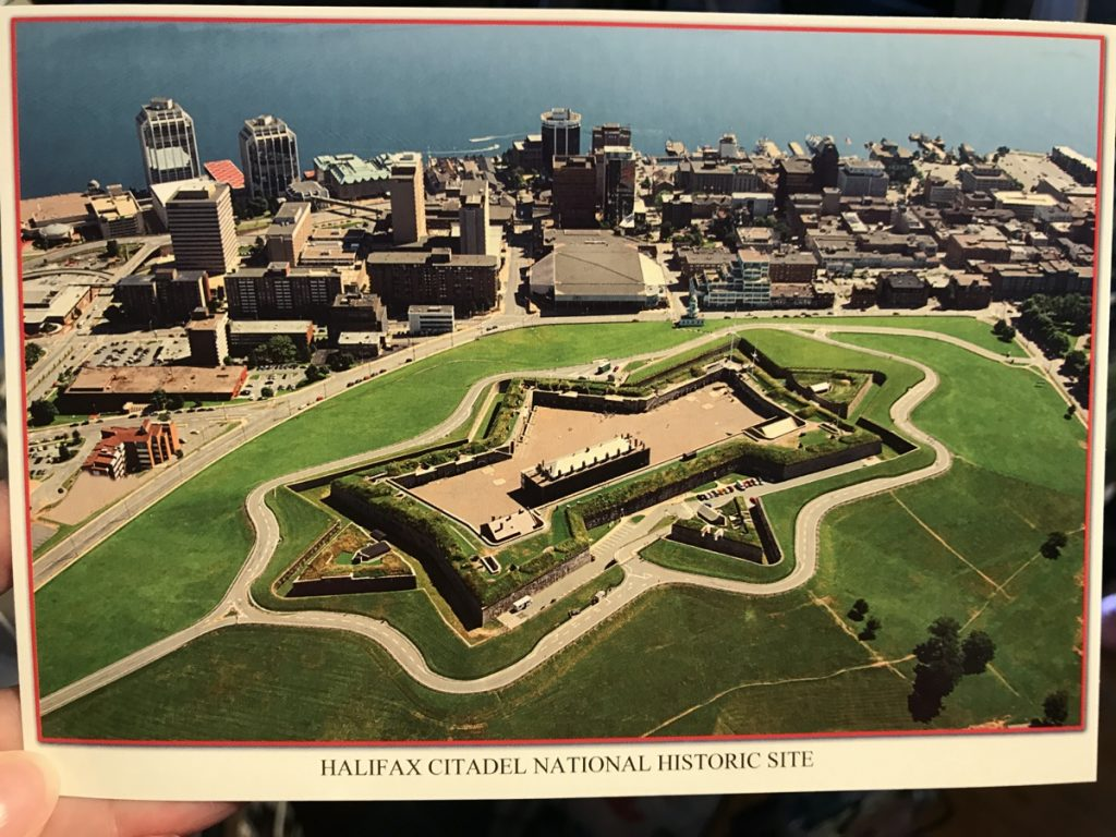 halifax citadel national historic site postcard from the gift shop