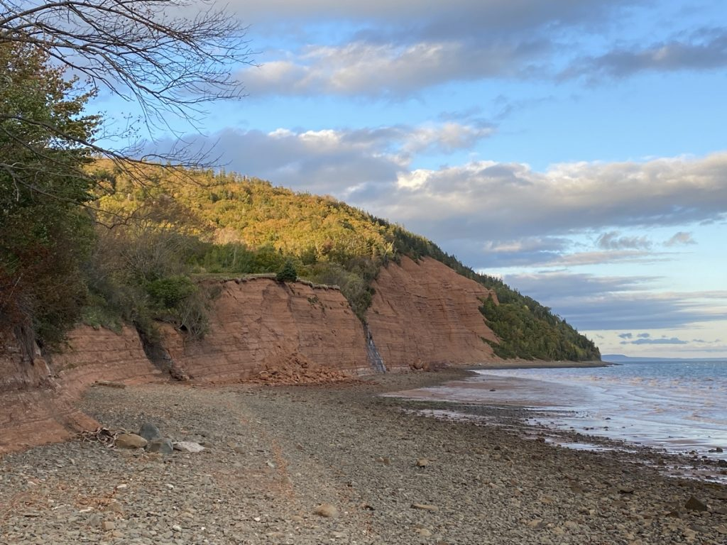 blomidon provincial park and campground along the bay of fundy nova scotia camping