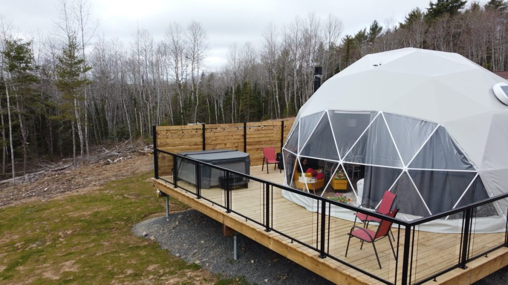 valley sky luxury camping glamping dome in wolfville annapolis valley nova scotia
