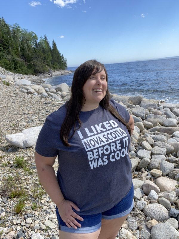 I Liked Nova Scotia Before it Was Cool tshirt Cailin model