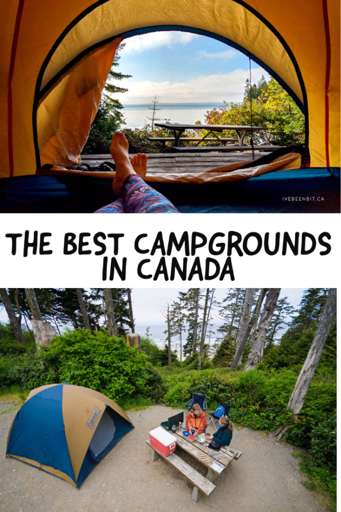 THE BEST CAMPGROUNDS IN CANADA pin