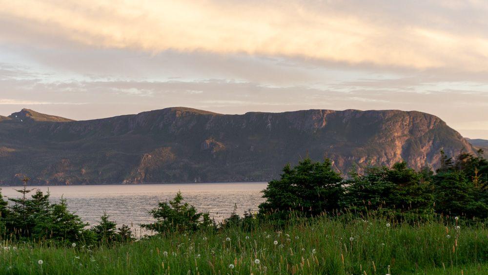 gros morne sunset best campground in newfoundland canada