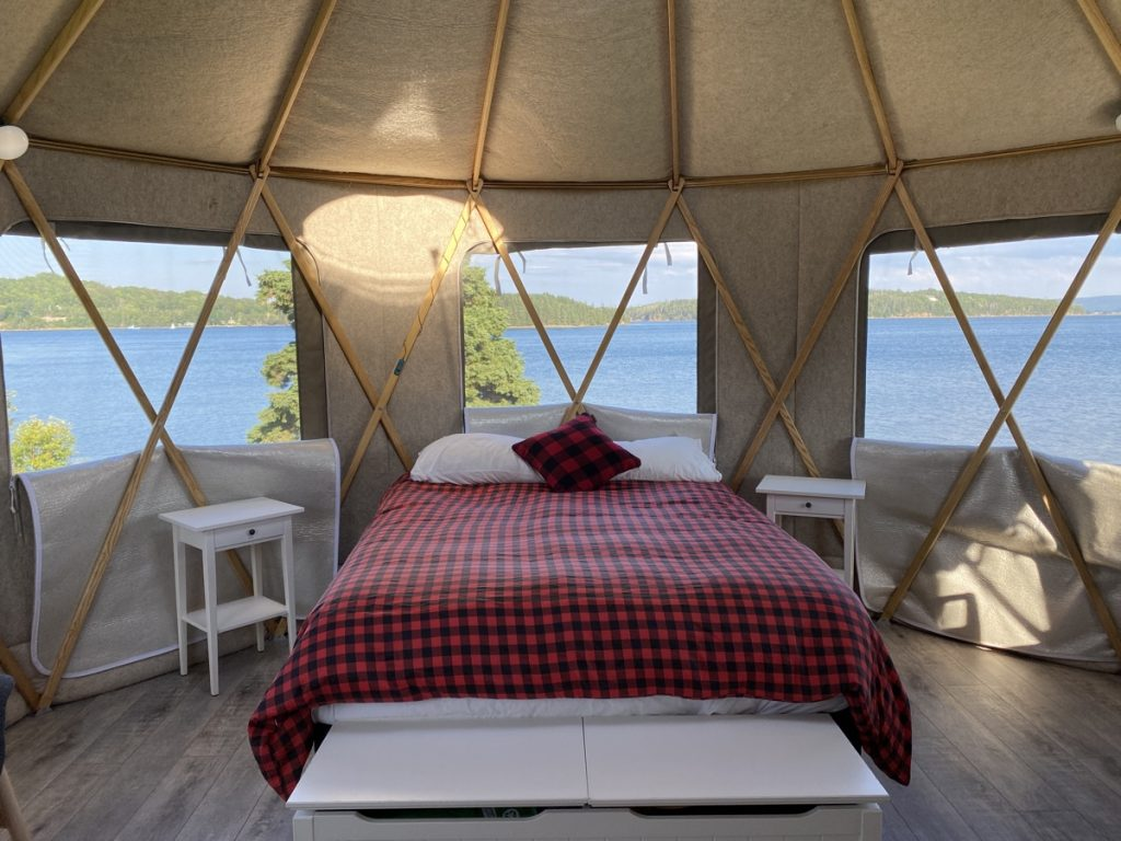an ocean view from the yurts at the authentic seacoast in guysborough