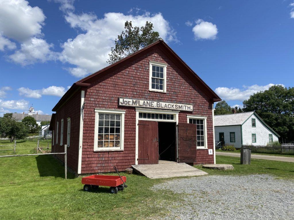 blacksmith shop at sherbrooke village in nova scotia