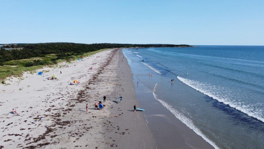 clam harbour beach on the eastern shore of nova scotia