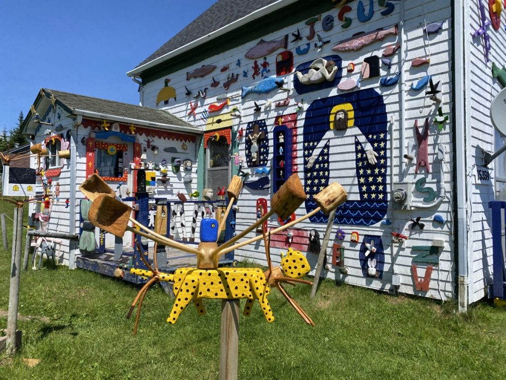 folk artist barry colpitts house in east ship harbour on the eastern shore of nova scotia
