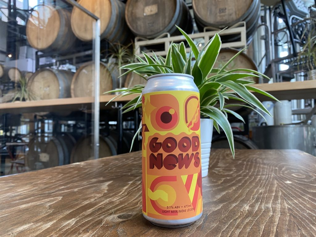 a can of good news beer from 2 crows brewing Halifax GUIDE TO THE BEST NOVA SCOTIA BREWERIES