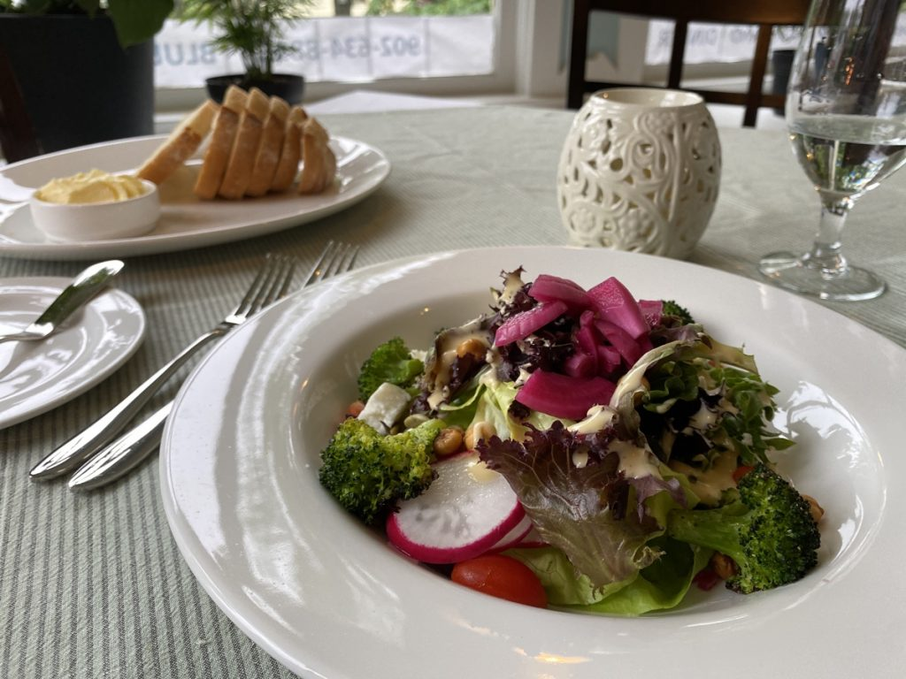 grilled vegetable summer salad the dining room in the bluenose lodge bed and breakfast